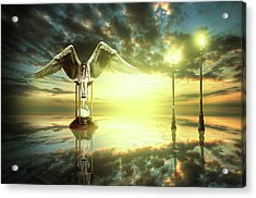 Acrylic Print featuring the digital art Time To Reflect by Nathan Wright