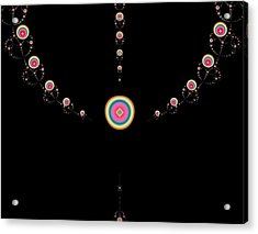 Tiered Necklace Acrylic Print by Thomas Smith