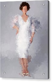 Acrylic Print featuring the digital art Tiffany by Nancy Levan