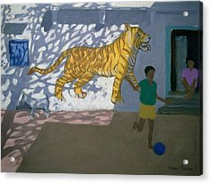 Tiger Acrylic Print by Andrew Macara
