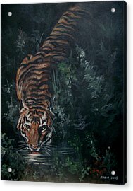 Acrylic Print featuring the painting Tiger by Bryan Bustard