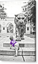 Tiger Dreams Digital Painting - Selective Color Acrylic Print