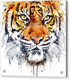 Tiger Face Close-up Acrylic Print