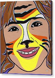 Tiger Girl Acrylic Print by Lucia  Perez