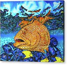 Tiger Grouper And Tang Fish Acrylic Print