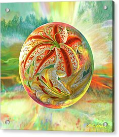Acrylic Print featuring the digital art Tiger Lily Dream by Robin Moline