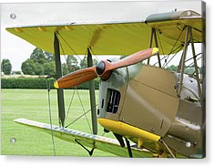 Acrylic Print featuring the photograph Tiger Moth Propeller by Gary Eason