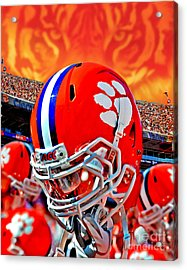 Tiger Pride Iphone Galaxy Cover Acrylic Print by Jeff McJunkin