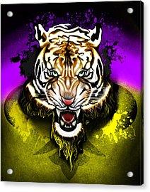 Acrylic Print featuring the digital art Tiger Rag by AC Williams