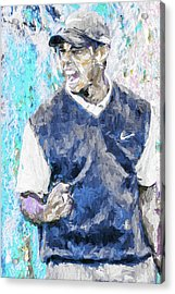 Acrylic Print featuring the photograph Tiger Says 2 Painting Digital Golf by David Haskett