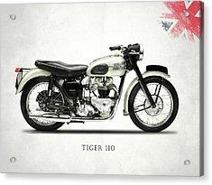 Tiger T110 1957 Acrylic Print by Mark Rogan