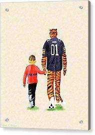 Tiger Tales From Auburn Acrylic Print