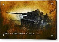 Acrylic Print featuring the digital art Tiger Tank by John Wills