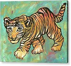 Tiger Trance Acrylic Print