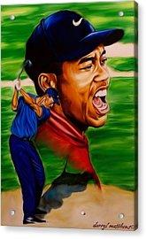 Tiger Woods. Acrylic Print