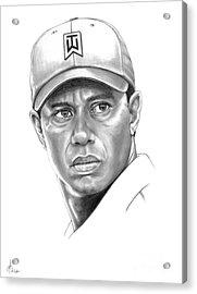 Tiger Woods Acrylic Print by Murphy Elliott