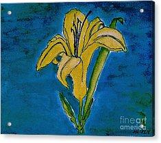 Tigerlily Yellow Acrylic Print by Marsha Heiken