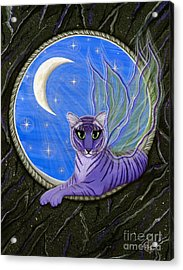 Tigerpixie Purple Tiger Fairy Acrylic Print