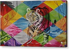 Tiger's Power Acrylic Print by Netka Dimoska