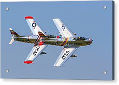 Tight Formation Acrylic Print by Allan Levin