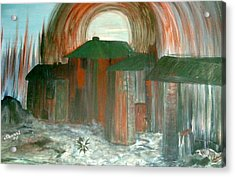 Acrylic Print featuring the painting Tijuana Backstreets by Sherri  Of Palm Springs