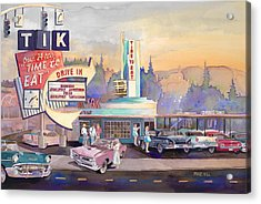 Tik Tok Drive-inn Acrylic Print by Mike Hill