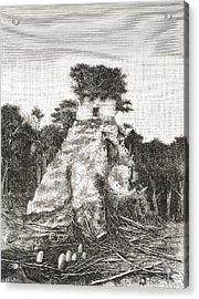 Tikal, Guatemala, Central America. The Acrylic Print