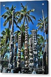 Tiki Gods Acrylic Print by Brian Governale
