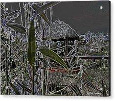 Tiki Hut Gone Abstract Acrylic Print