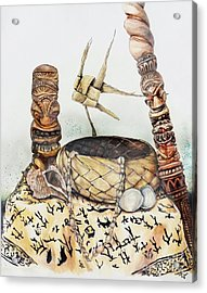 Tiki Still Life 1 Acrylic Print