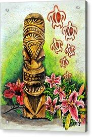 Tiki Still Life 2 Acrylic Print