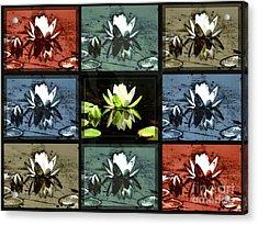 Tiled Water Lillies Acrylic Print