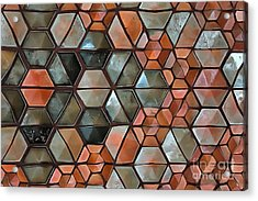 Acrylic Print featuring the painting Tiles Abstract by Edward Fielding