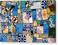 Tiles Fragments Acrylic Print by Carlos Caetano