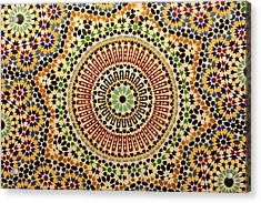 Acrylic Print featuring the photograph Tiles Of Fez by Ramona Johnston