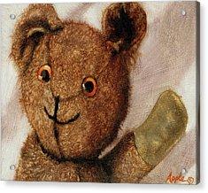 Tillie - Vintage Bear Painting Acrylic Print by Linda Apple
