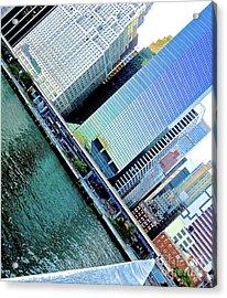 Tilted Buildings 1 Acrylic Print