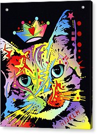 Tilted Cat Crowned Acrylic Print by Dean Russo