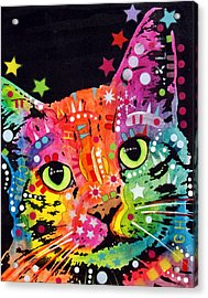 Tilted Cat Warpaint Acrylic Print by Dean Russo