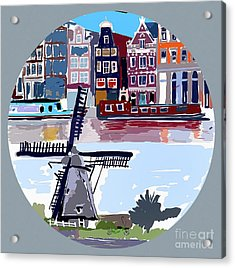 Tilting Windmills Acrylic Print