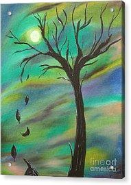 Tim Burton Tree Acrylic Print by Sesha Lee