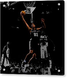 Tim Duncan 2a Acrylic Print by Brian Reaves