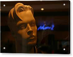 Tim In Thought Acrylic Print by Jez C Self