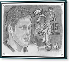 Tim Tebow Acrylic Print by Chris  DelVecchio