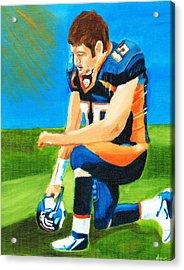 Tim Tebow Denver Broncos Nfl Portrait Acrylic Print