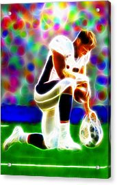 Tim Tebow Magical Tebowing 2 Acrylic Print by Paul Van Scott