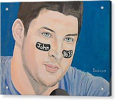 Tim Tebow Acrylic Print by Richard Retey