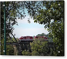 Timber Trestle Bridge Acrylic Print
