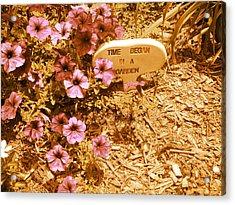 Time Began In A Garden Acrylic Print