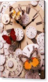 Time Flies Acrylic Print by Garry Gay